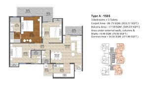 Ace Divino Floor Plan 1565 SQ.FT.